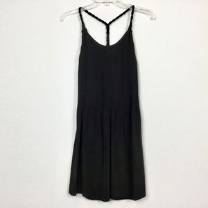 100% Silk Banana Republic Racerback Pleated Dress